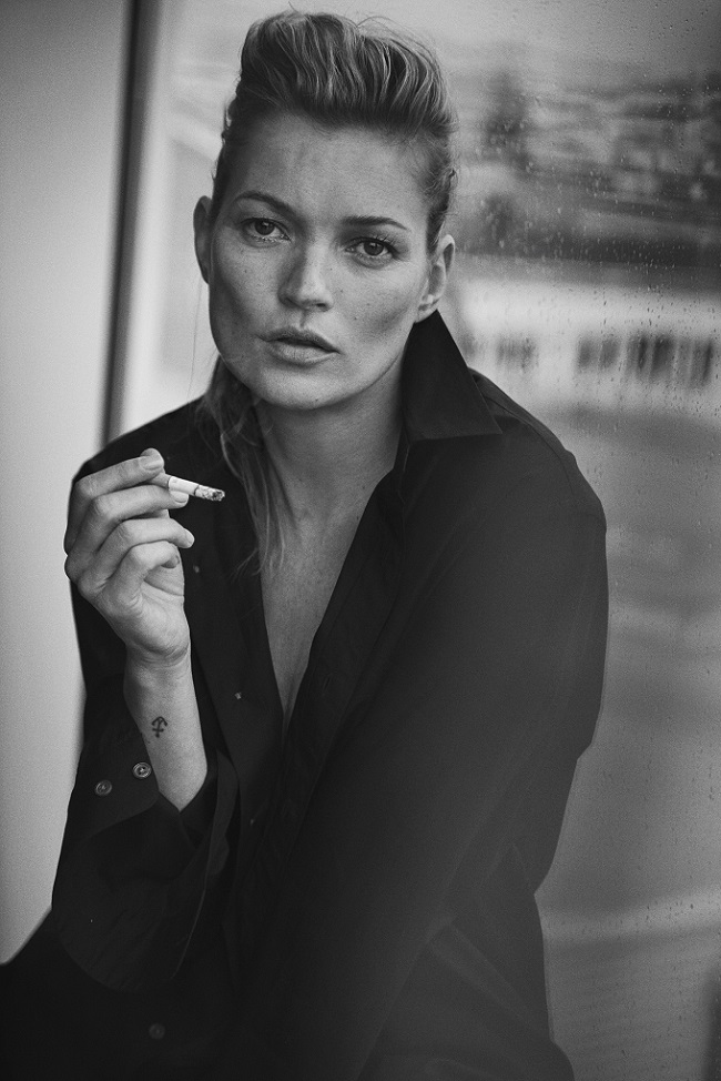 Kate Moss, Paris, 2015 Vogue Italia © Peter Lindbergh (Courtesy of Peter Lindbergh, Paris / Gagosian Gallery) Giorgio Armani, S/S 2015