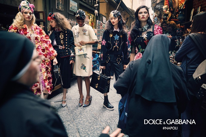 Dolce&Gabbana FW 2016-2017 Advertising Campaign in Naples