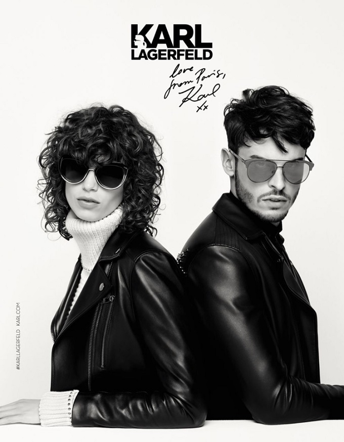 Mica Arganaraz stars in Karl Lagerfeld's fall-winter 2016 campaign