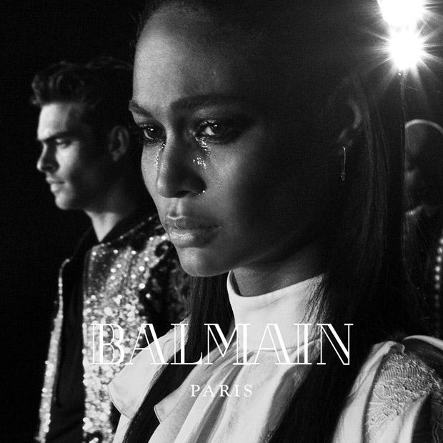 Supermodels + Kanye West & Kim Kardashian as FW16 #Balmainarmy