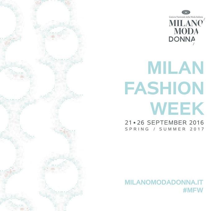 Milano Fashion Week Schedule Women's Spring Summer 2017