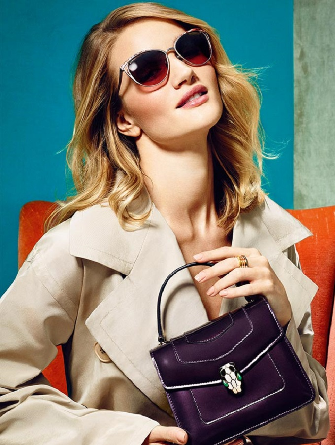 Rosie Huntington Whiteley Bulgari Serpenti Bags Campaig