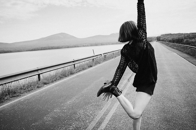 AllSaints Spring 17 preview featuring Maya Hawke