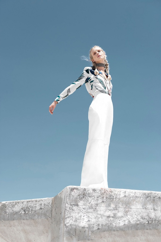 Dream White - Ryan Jerome for September issue of ELLE bulgaria
