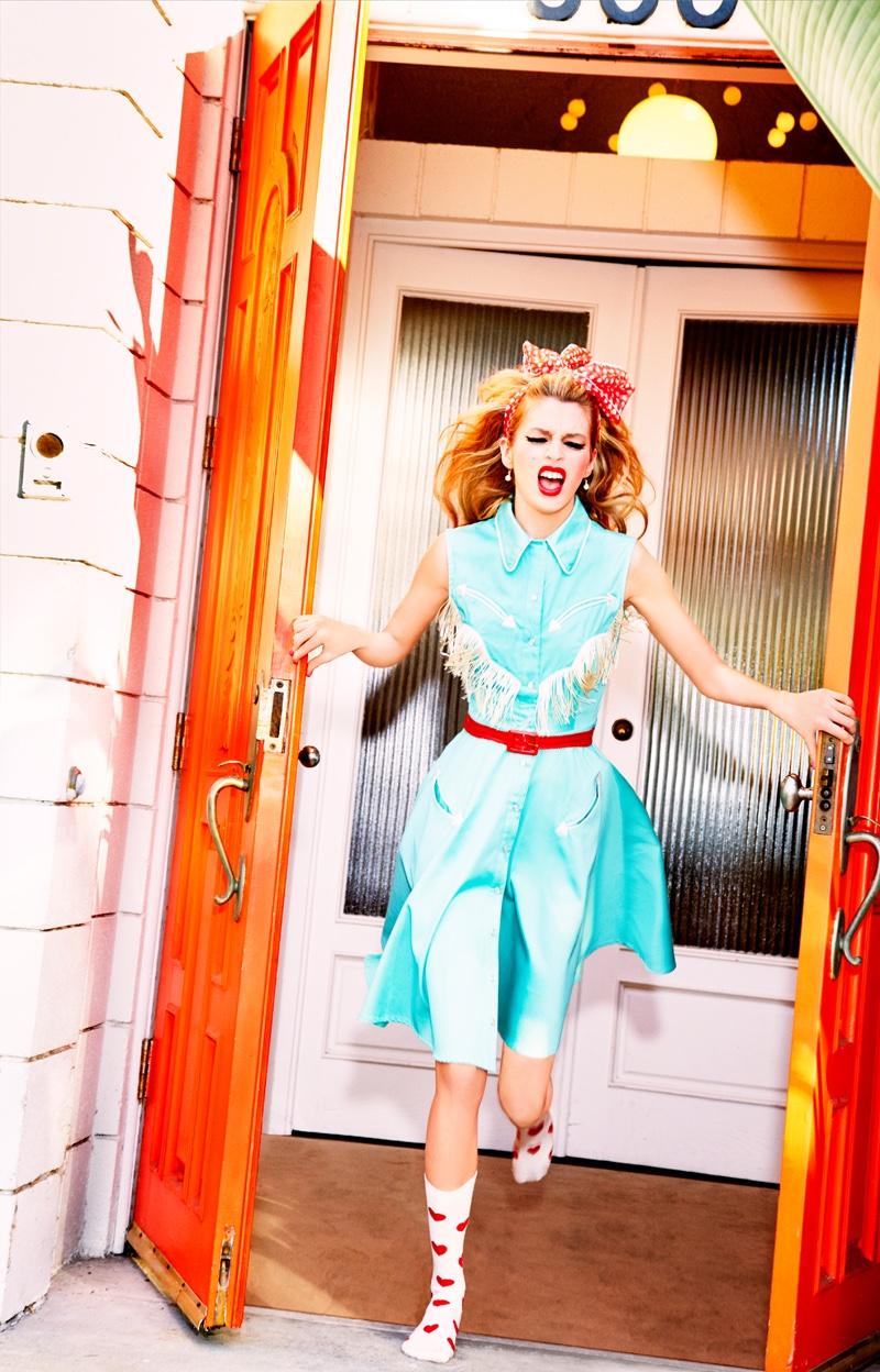 Stella Maxwell Goes Pin-up in Happy Socks' Fall Campaign by Ellen von Unwerth