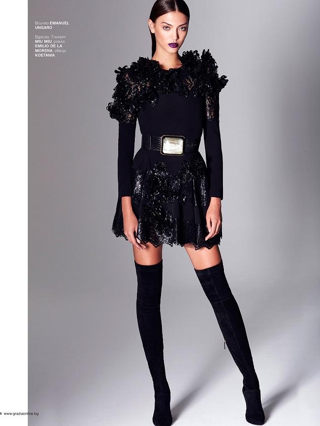 Black is Back – Vladimir Marti for Grazia Magazine Bulgaria