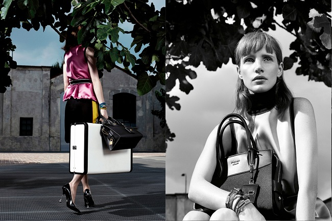 Prada Resort 2017 Campaign with Jessica Chastain
