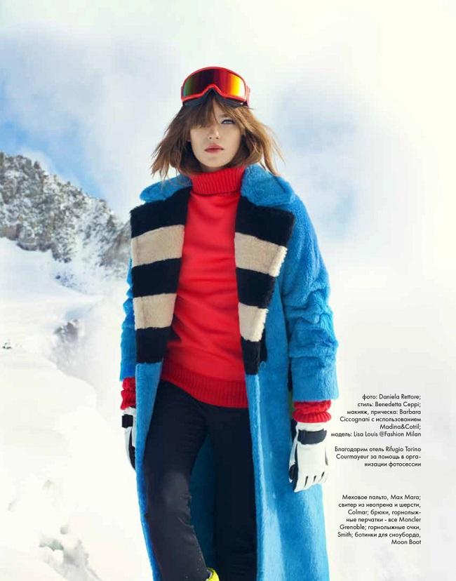 ELLE Kazakhstan December 2016 Lisa Louis by Daniela Rettore
