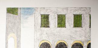 Giorgio de Chirico, Malinconia, 1972. Litografia colorata a mano dall'artista