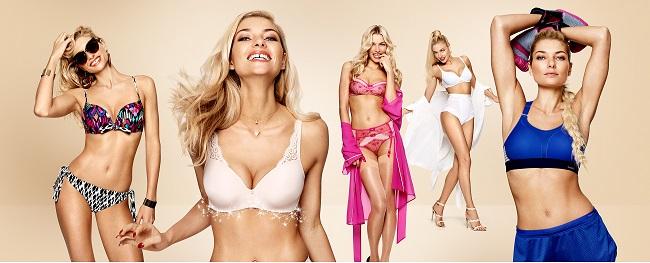 Jessica Hart protagonista della campagna Triumph lingerie