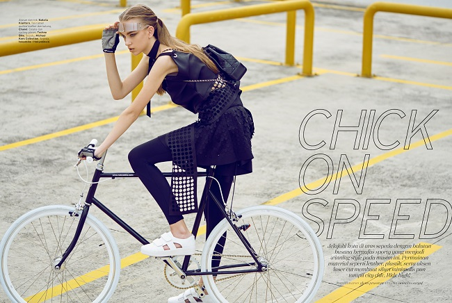 Chick on Speed - Glenn Prasetya for ELLE Fashion Editorial April