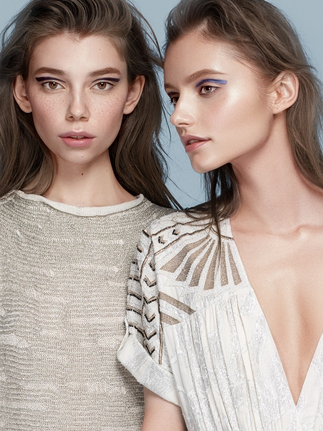 Marina Romashina and Alicja Zebrowska by Anna Zesiger in Skyline