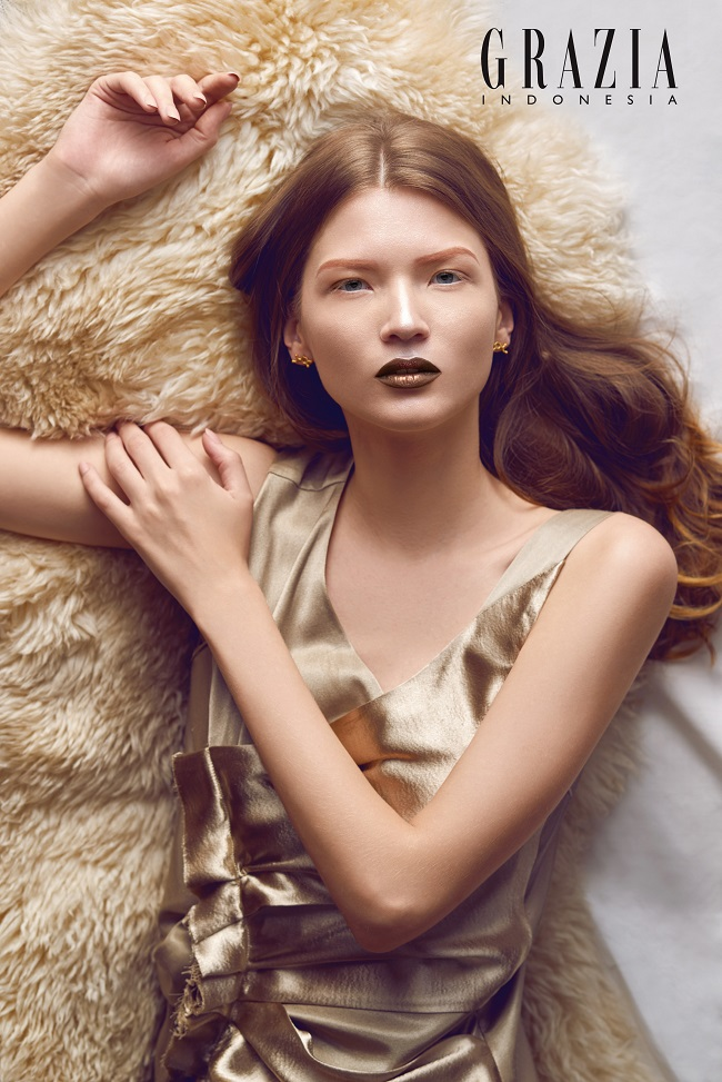 Touch Of Gold: Glenn Prasetya per Grazia Indonesia Beauty