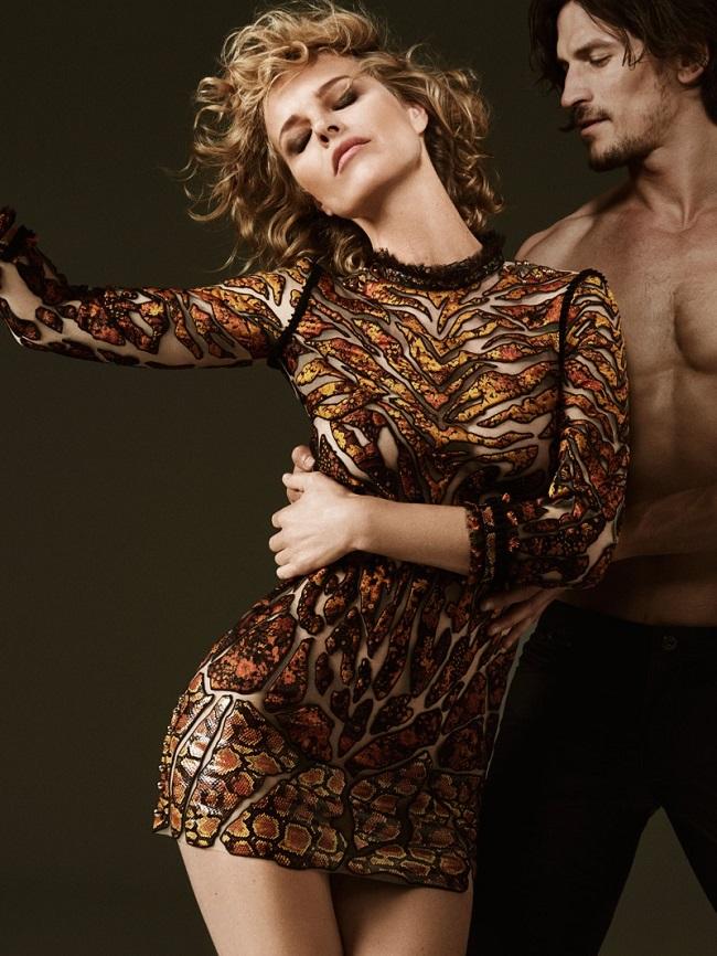 Eva Herzigova Stuns in Roberto Cavalli's Fall 2017 Campaign