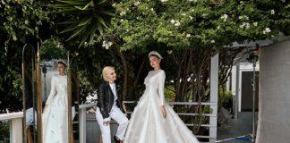Il matrimonio in Dior di Miranda Kerr. photo Patrick Demarchelier August Vogue