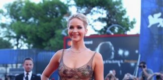 Jennifer Lawrence in Dior Haute Couture a Venezia