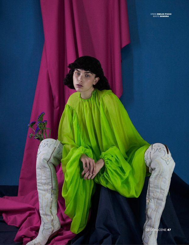 Sanne de Roo by Angelo Lamparelli for D'SCENE fashionpress.it