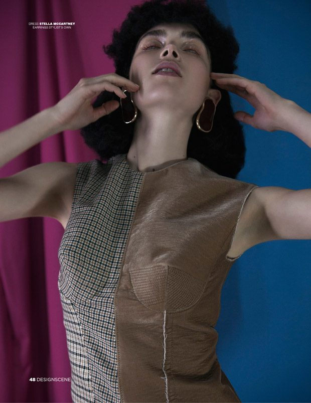 Sanne de Roo by Angelo Lamparelli for D'SCENE fashionpress.it