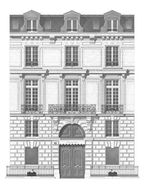 Il numero 30 di Avenue Montaigne visto da Xavier Casalta