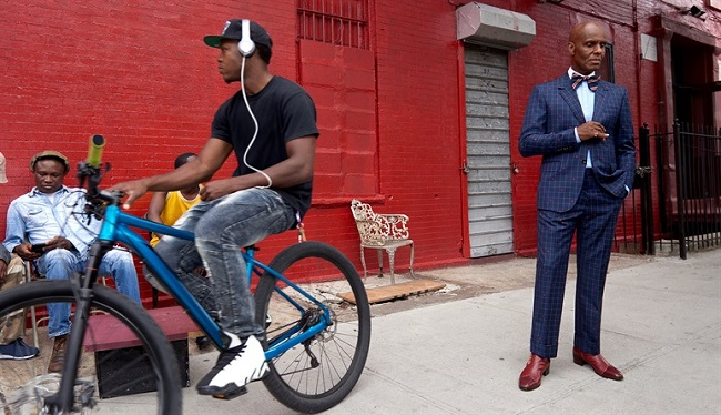 Dapper Dan, right, in the Gucci men's tailoring campaign. Photo: Glen Luchford
