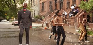 Dapper Dan, right, in the Gucci men's tailoring campaign. Photo: Glen Luchford