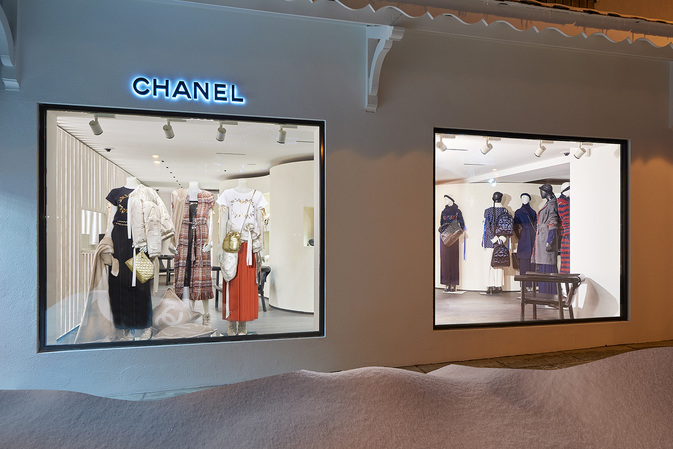 Il pop up store di Chanel a Courchevel