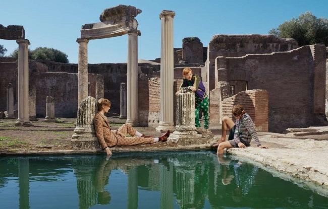 Gucci il book scattato da Elaine Constantine a Villa Adriana