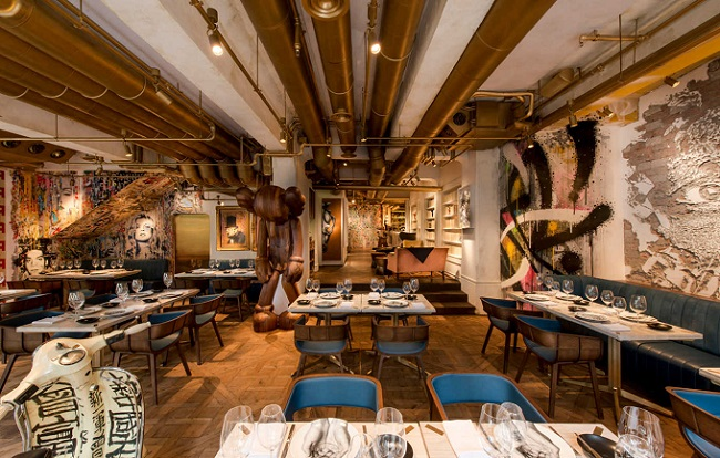 Bibo Restaurant la street art incontra l'arte culinaria francese.
