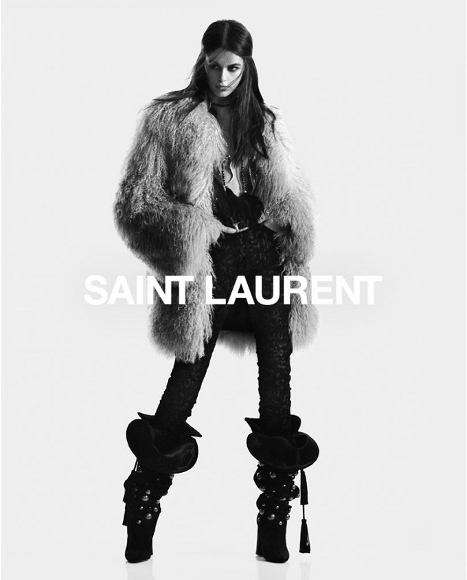 Saint Laurent Fall 2018 Campaign with Kaia Gerber