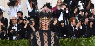 Met Gala 2018: Cara DelevigneinDior Haute Couture