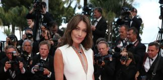Cannes: Carla Bruni is made up and dresses by Dior