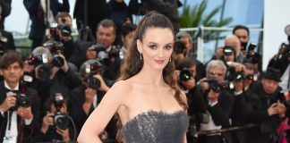 Charlotte Le Bon is dressed and made up by Dior