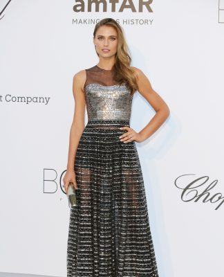 For the AmfAR diner  FERNANDA LIZ WAS DRESSED BY DIOR