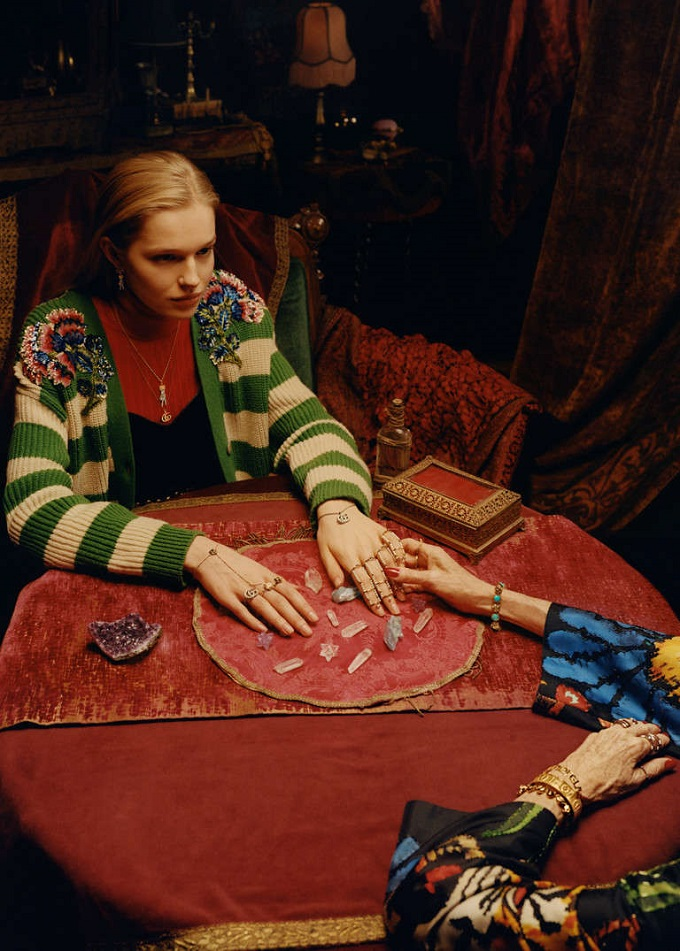 Tippi Hedren nella nuova campagna Gucci Timepieces and Jewellery