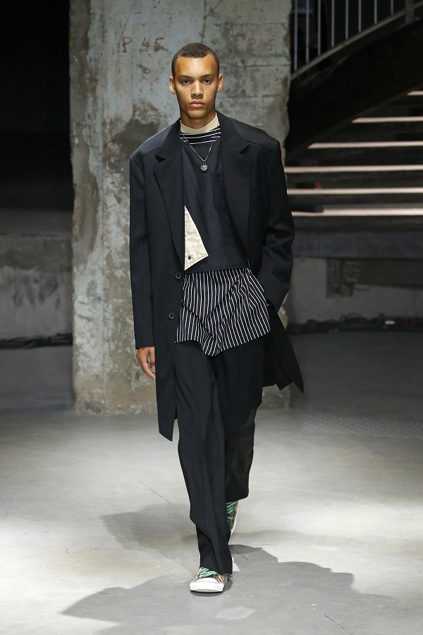 Lucas Ossendrijver explores a series of contrasts for Lanvin's spring-summer 2019 collection.