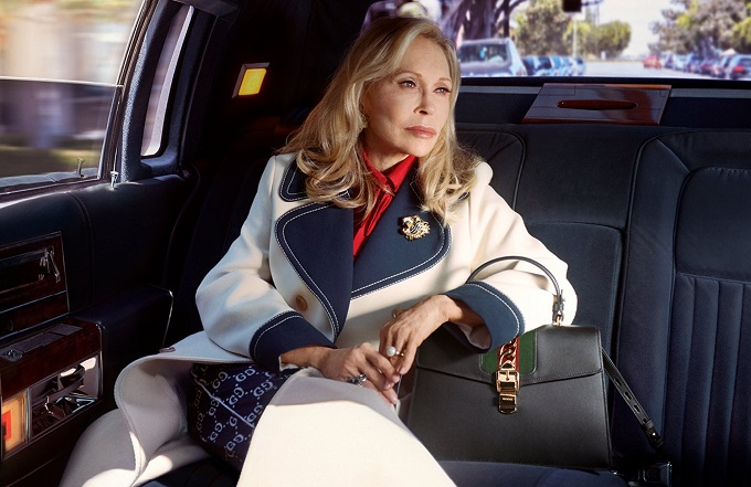Faye Dunaway per Gucci