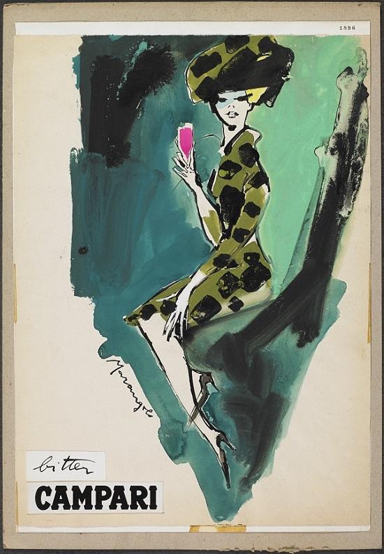 Franz Marangolo, Bitter Campari, anni 60, © Galleria Campari