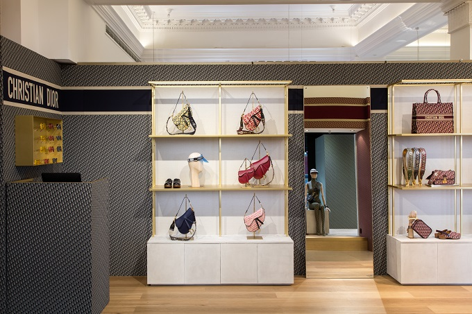 Dior Pop-Up Store at London's luxury Harrods department store.