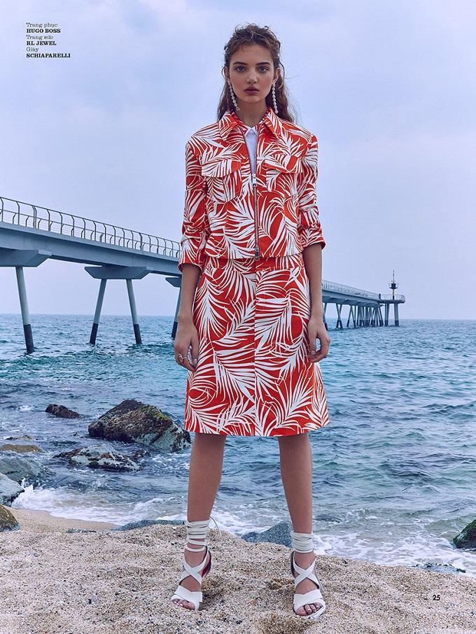 Anna Vivchar by Olga Rubio Dalmau for ELLE Vietnam August 2018