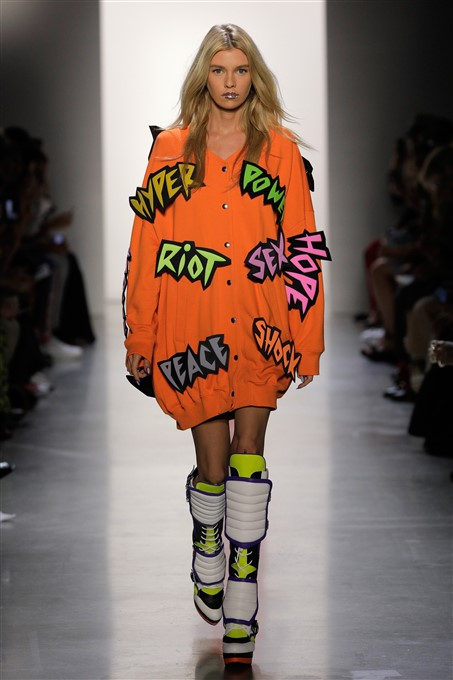 NYFW: Jeremy Scott imagines a runway collection in a gender fluid postmodern world.