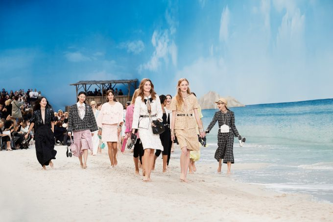 CHANEL transformed the Grand Palais into a dream beach