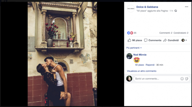 Ines Trocchia e Stefano Berretti per D&G
