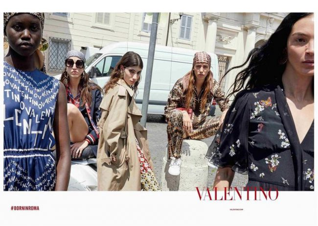Born In Roma where harmony comes from a fusion of all things. New Valentino Resort 19 campaign.