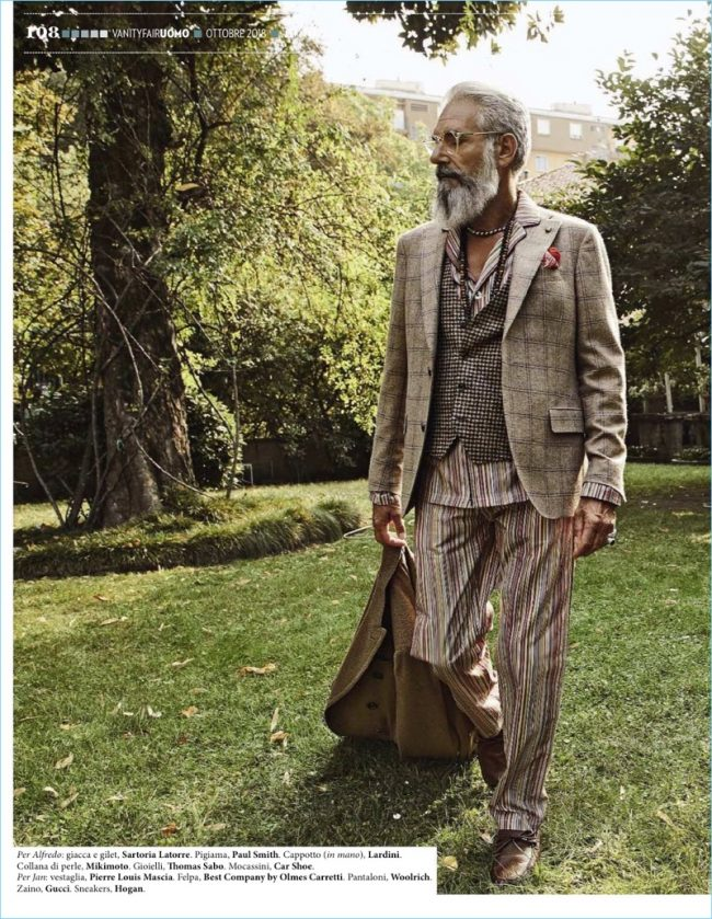 Vanity Fair Italia stages a family affair lensed by Paolo Leone fashionpress.it