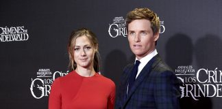 "Hannah Redmayne wore Dior by Maria Grazia Chiuri to the Premiere of ""Fantastic Beasts""."
