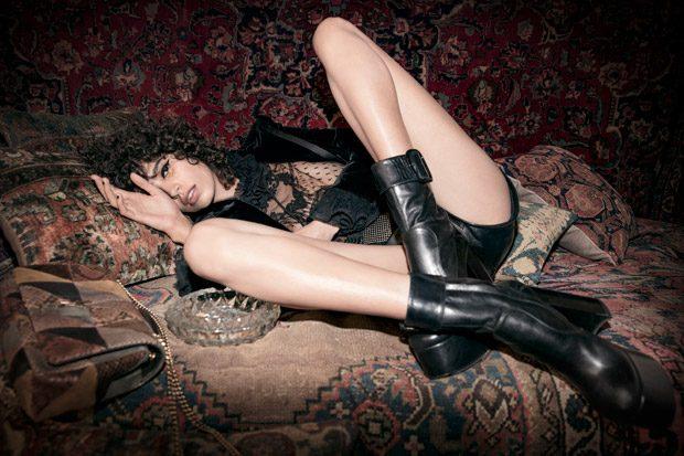 Mica Arganaraz Models Saint Laurent Fall 2018 Campaign