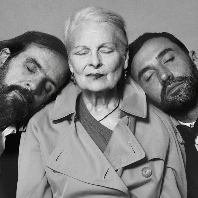 Portrait of Riccardo Tisci, Vivienne Westwood and Andreas Kronthaler c Courtesy of Burberry_ Brett Lloyd