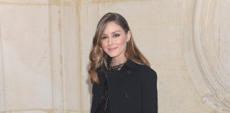 Olivia palermo seats front row at Dior