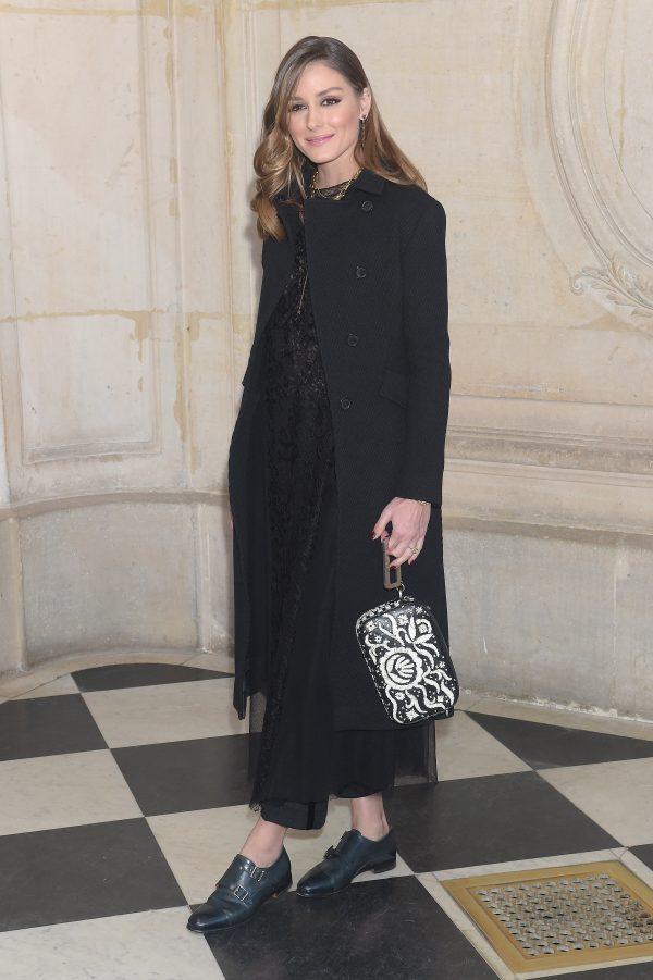 Olivia palermo seats front row at Dior