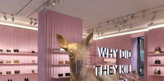 Il negozio Burberry in Montenapoleone celebra la Milano Design Week con installazione personalizzata.